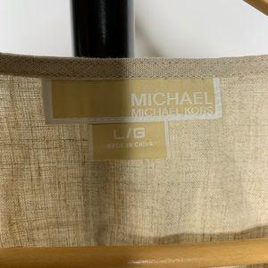 Michael Kors Tops - Michael Kors Tan Beaded V Neck Tunic Shirt